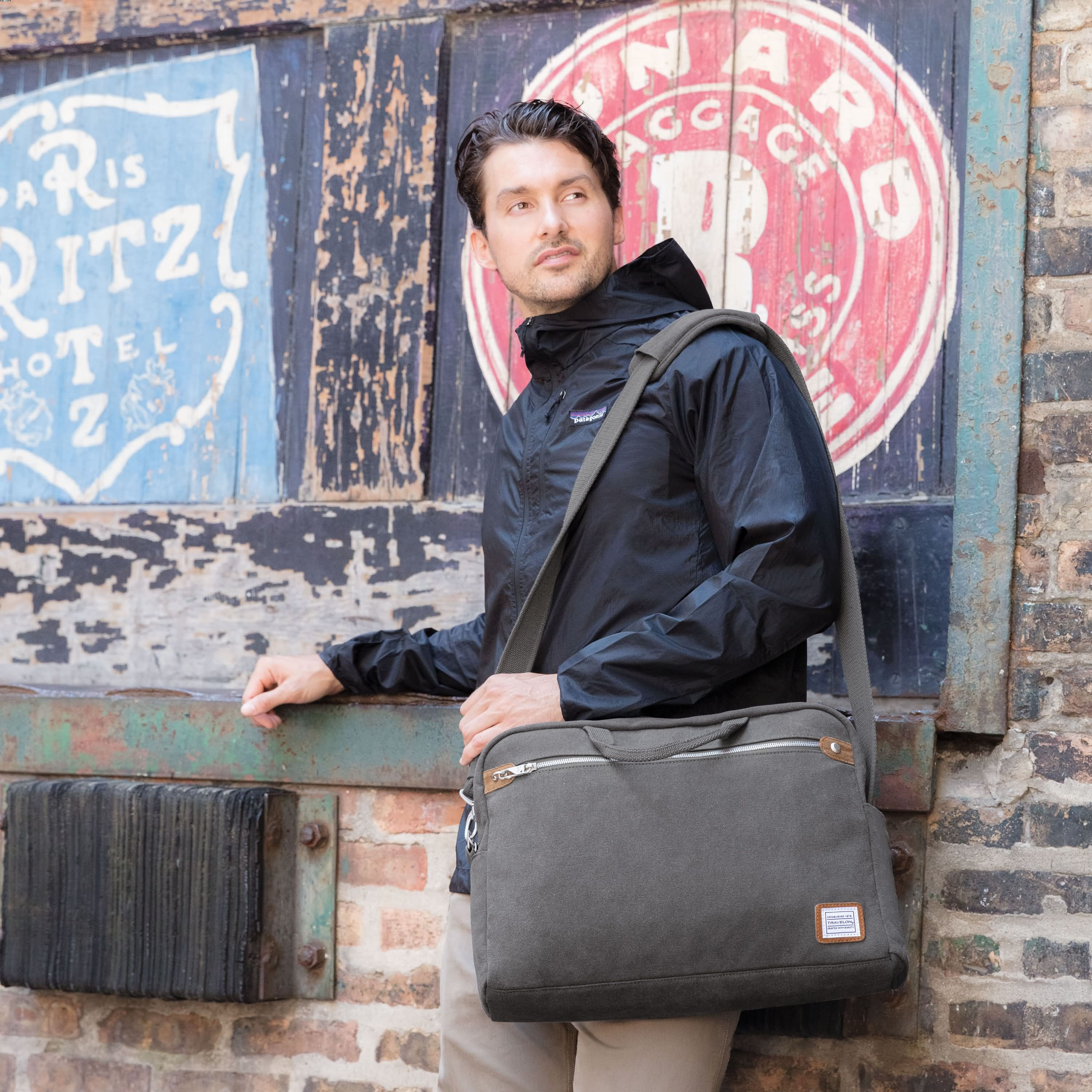 Anti-Theft Heritage Messenger Briefcase