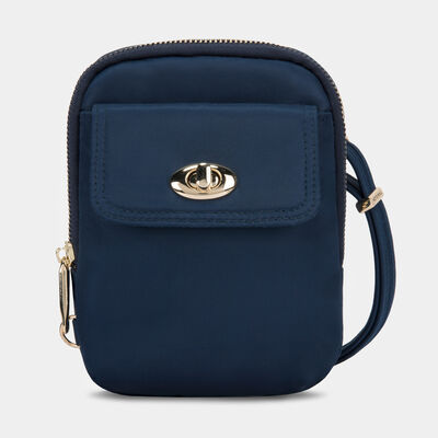 anti-theft tailored crossbody phone pouch