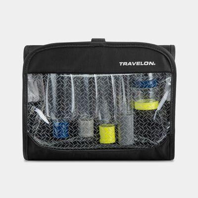 trifold wet/dry 1 quart bag with bottles