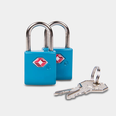 set of 2 tsa accepted padlocks