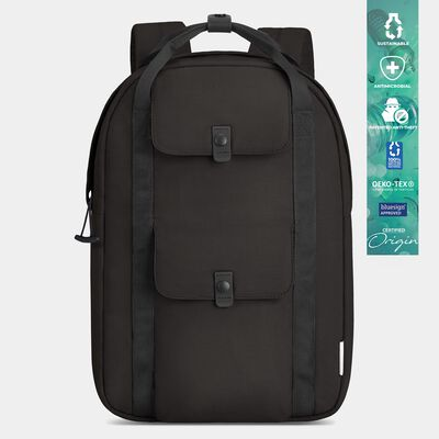 origin sustainable antimicrobial anti-theft daypack