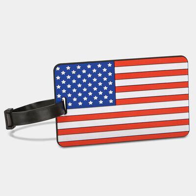 american flag luggage tag (single)