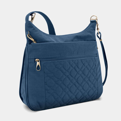 anti-theft signature quilted expansion crossbody