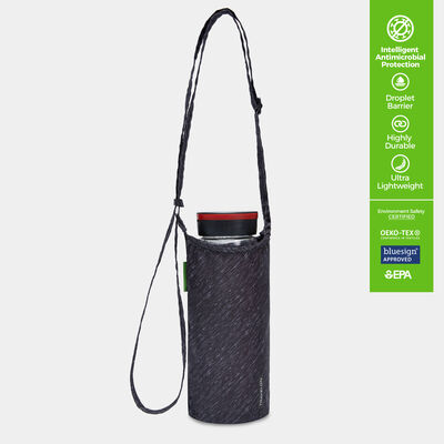 clean antimicrobial packable water bottle tote
