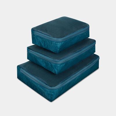 world travel essentials set of 3 soft packing cubes
