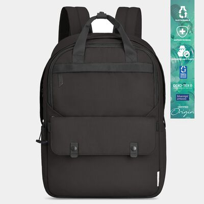 origin sustainable antimicrobial anti-theft large backpack