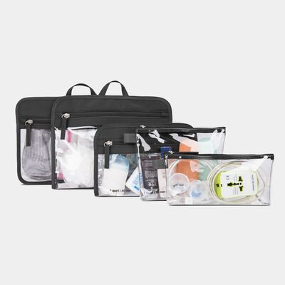 set of 5 packing pouches