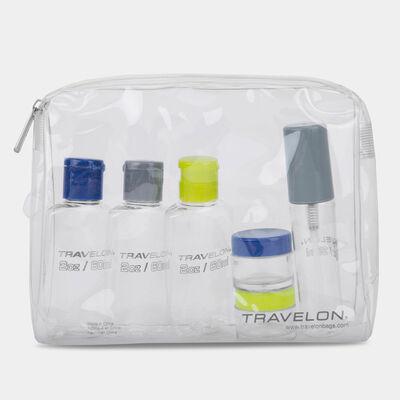 1-quart zip-top bag with bottles