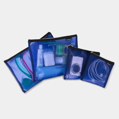 set of 4 mesh pouches