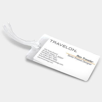 set of 3 self-laminating luggage tags