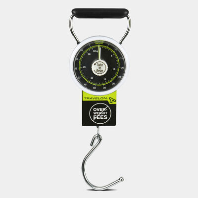 stop & lock luggage scale with tape measure