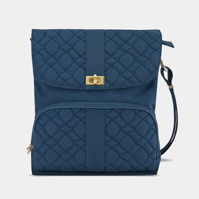 anti-theft signature quilted messenger bag