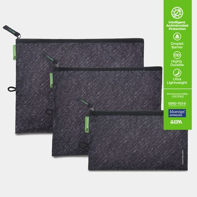 clean antimicrobial set of 3 pouches