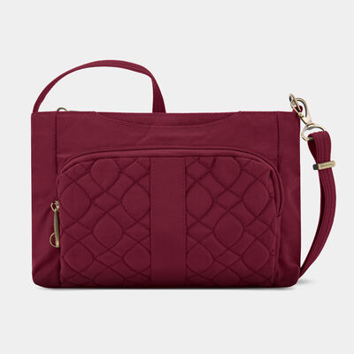 anti-theft signature quilted east/west slim bag