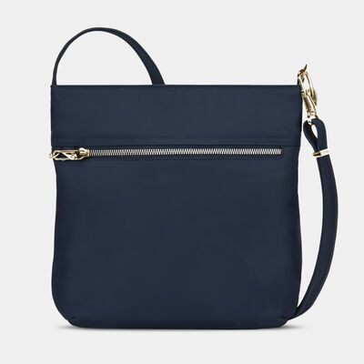 anti-theft tailored north/south slim bag