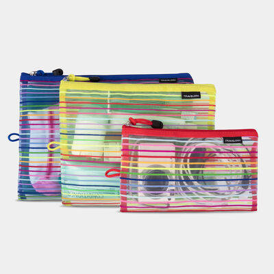 set of 3 mesh pouches